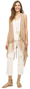 Anthropologie Tassel Knit Boho Vest