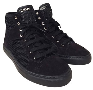 Chanel Trainer Sneaker Mesh Suede Classic black Athletic