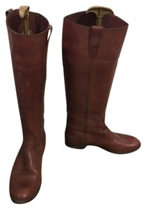 Madewell Leather Tall Riding Brown Boots