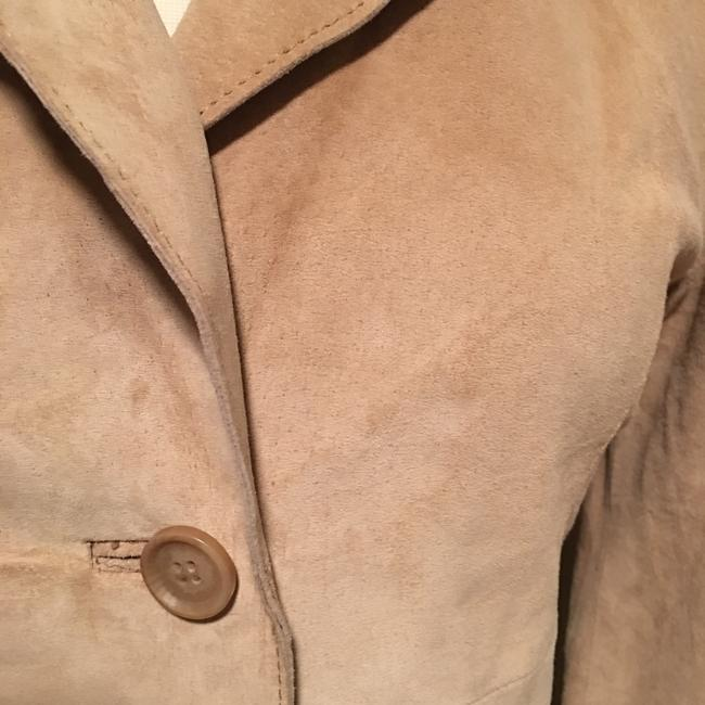 Forever 21 Tan suede leather Leather Jacket Image 1