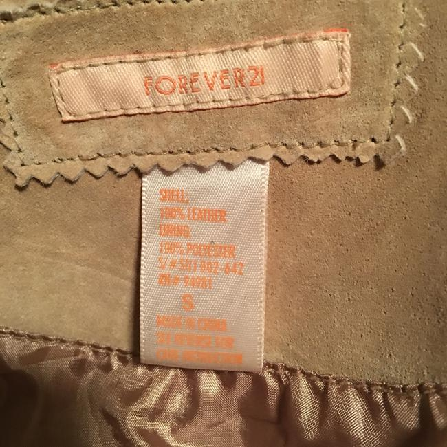 Forever 21 Tan suede leather Leather Jacket Image 2