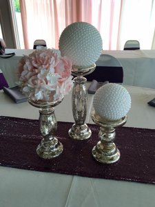 Pearl Ball And Flower Ball Centerpieces