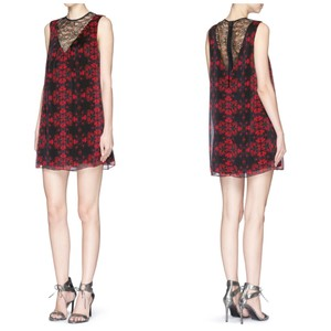 Alice + Olivia Lace Holiday Party Floral Dress