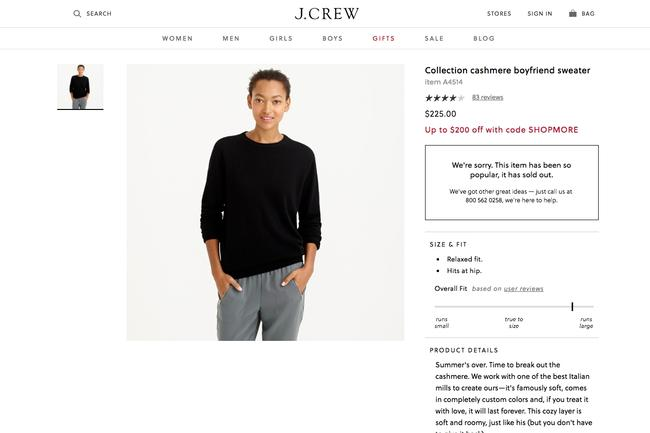 J.Crew Cashmere Fall Soft Holiday Spring Sweater Image 3