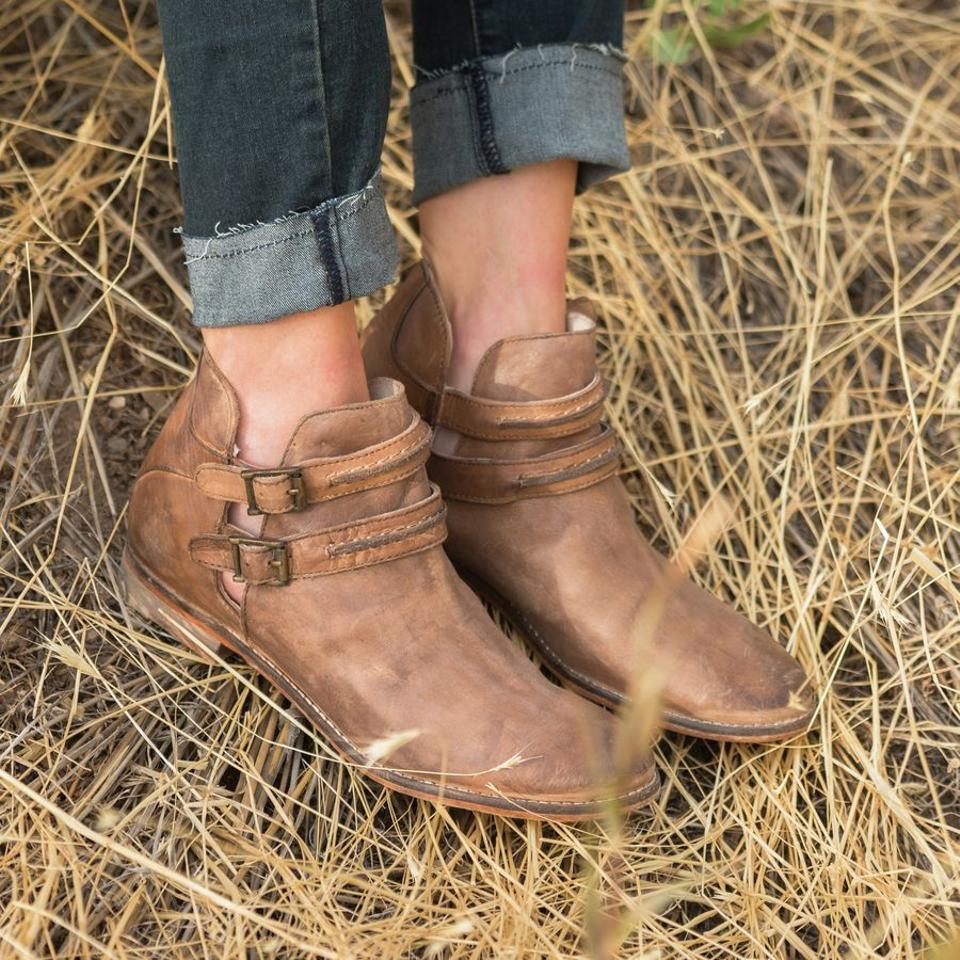 a54337b3bedb Free People Brown Braeburn Ankle Euro 38 Boots Booties Size US 7.5 ...