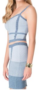 bebe denim Halter Top