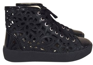 Chanel Laser Classic Patent Lace Trainer black Athletic