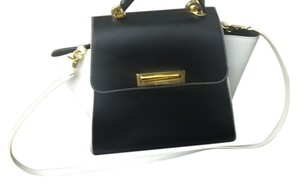 Zac Posen Tote in Black and white with golden hardware