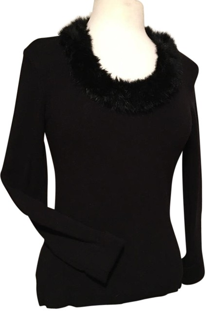 Preload https://img-static.tradesy.com/item/20090203/cabo-rayon-nylon-spandex-blend-knit-with-faux-fur-neck-sweater-0-1-650-650.jpg