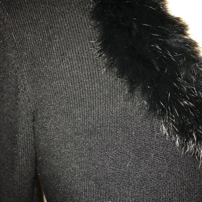 CAbi Rayon Nylon Spandex Blend Knit With Faux Fur Neck Sweater Image 1