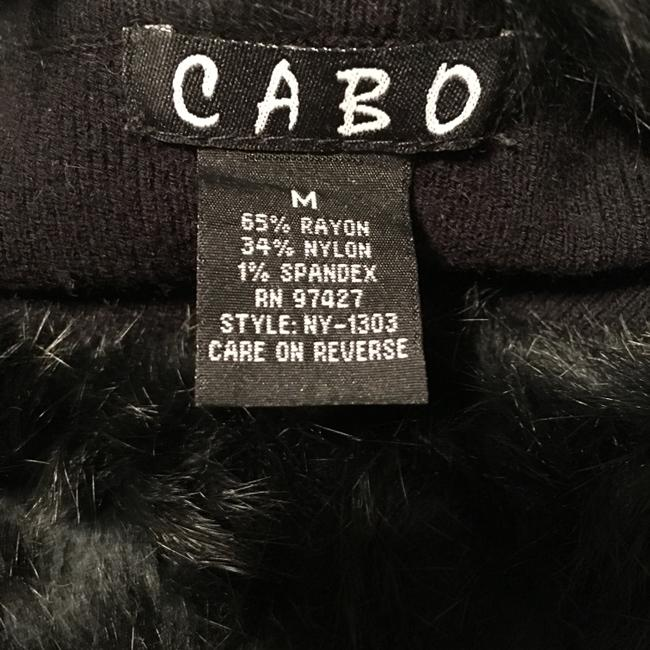 CAbi Rayon Nylon Spandex Blend Knit With Faux Fur Neck Sweater Image 2