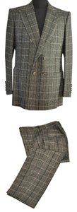 Gucci Men brown checker suit 52R