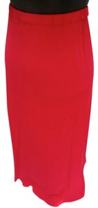 Eileen Fisher Silk A-line Red Skirt