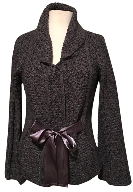 Preload https://img-static.tradesy.com/item/20090334/blue-made-in-italy-bulky-flared-sleeve-with-satin-ties-cardigan-size-12-l-0-1-650-650.jpg