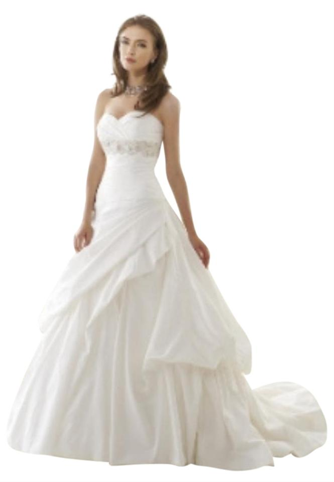 5d818388d835 Jasmine Bridal Ivory Silk Shantung Sweetheart Ballgown T146 Ruched ...