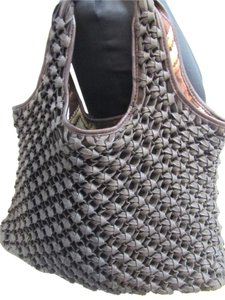 Banana Republic Shoelace Leather Hobo Bag