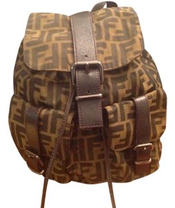 Fendi Vintage Monogram Double Pocket Backpack