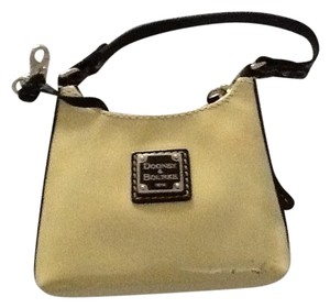 Dooney & Bourke Patent Leather Hand Tiny Wristlet in Beige