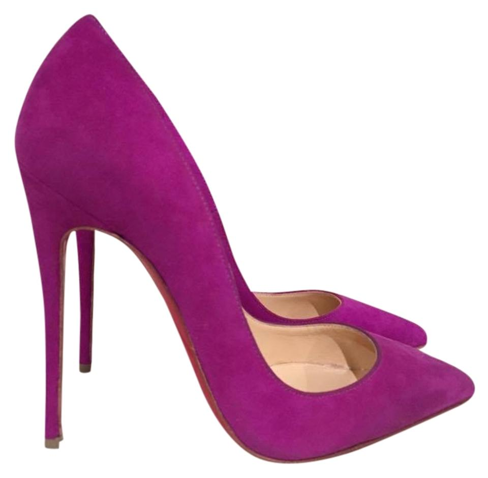 930a0b0cbc78 Christian Louboutin Purple So Kate 120 Suede Pointed Heel 36 Pumps ...