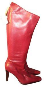 Sergio Rossi Red Boots