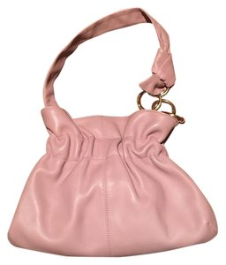Furla Leather Pink Handbag Italian Hobo Bag