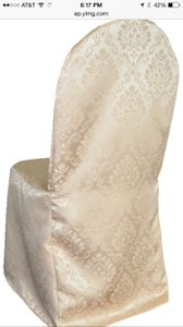 50 Champagne Satin Banquet Chair Covers