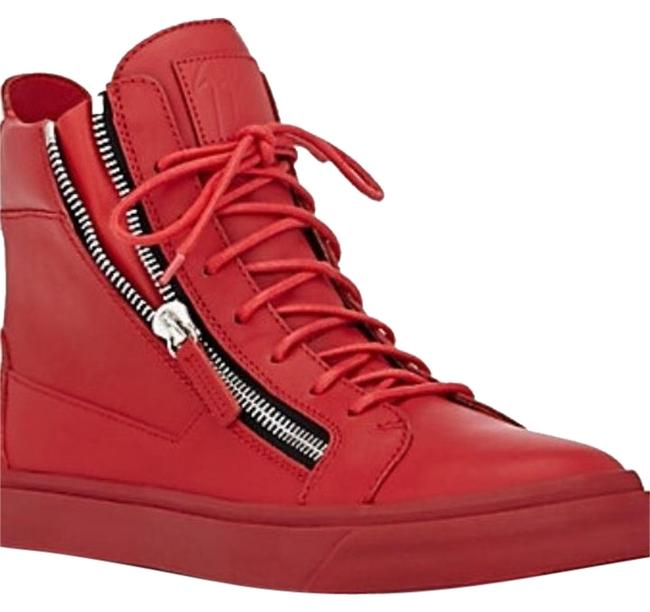 Item - Flame / Red High Tops Sneakers Size US 7 Regular (M, B)