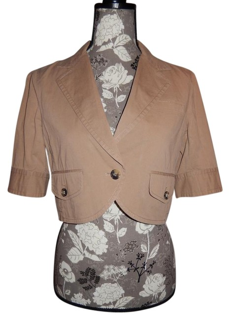 Theory Cotton Tan Jacket Image 0