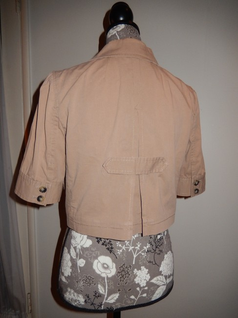 Theory Cotton Tan Jacket Image 3
