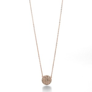 Fossil Glitz Disc Necklace - Rosegold