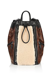 Alexander Wang Shearling Leather Lambskin Backpack