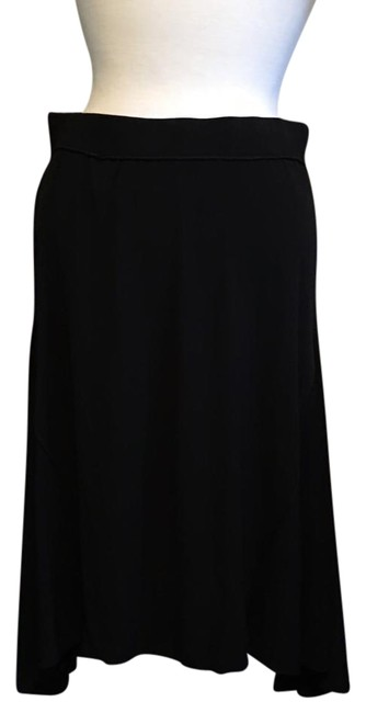 Max Studio Black Stretchy Flared Pieced Skirt Size 4 (S, 27) Max Studio Black Stretchy Flared Pieced Skirt Size 4 (S, 27) Image 1