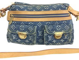 Louis Vuitton Lv Monogram Denim Satchel in blue