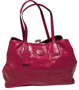Coach Satchel in Magenta Pink
