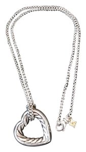 David Yurman DAVID YURMAN Sterling Silver Cable Heart Pendant Necklace