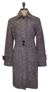 New York & Company Tweed Wool Blend Winter Trench Coat