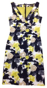 H&M Floral Yellow Sheath Dress