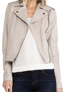 Vince Leather beige, nude Leather Jacket