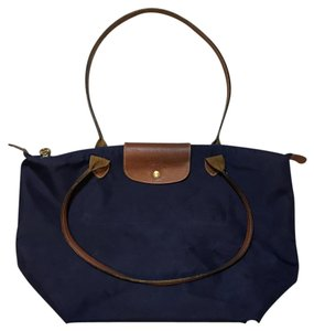 Longchamp Tote in Navy Blue