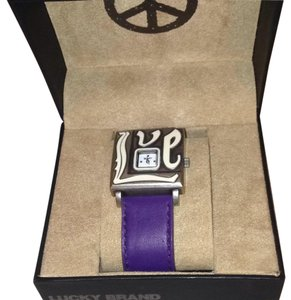 Lucky Brand Lucky Brand Watch With Purple Adjustable Band