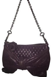 Juicy Couture Monogram Aubergine Quilted Leather Cross Body Bag