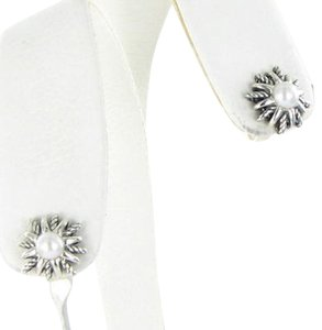 David Yurman David Yurman Starburst Earrings 12mm Pearl Sterling Silver 925