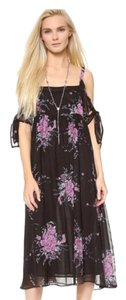 Black Maxi Dress by Free People Boho Floral