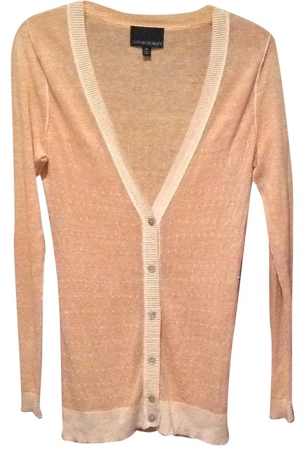 Preload https://img-static.tradesy.com/item/20091467/cynthia-rowley-peach-and-cream-cardigan-size-8-m-0-1-650-650.jpg