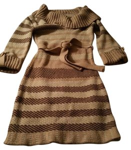 Say What? short dress Beige Sweater Made In The Usa on Tradesy