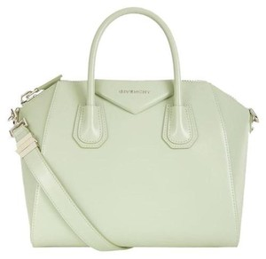Givenchy Top Handles Shoulder Strap Structured Top Closure Satchel in Mint