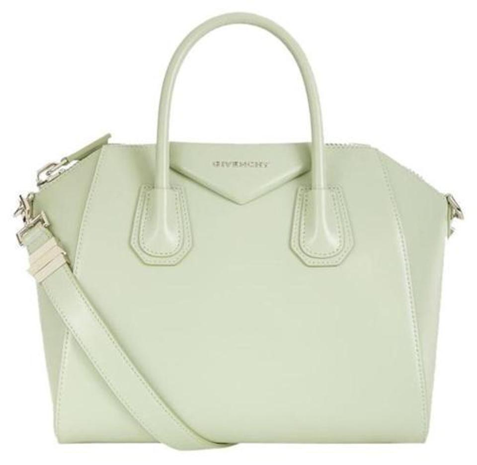 afdbb417e1ce Givenchy Small Antigona Mint Leather Satchel - Tradesy
