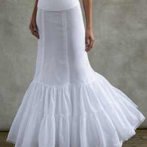 David's Bridal Fit And Flare Slip Wedding Dress