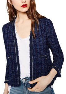 Zara Tweed Blue Jacket