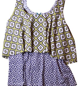 Anthropologie Top Green, Purple, Blue